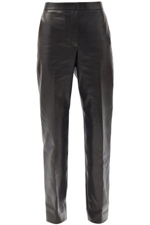 The Row Women Leather Pants - Becker High-rise Leather Trousers - Womens
