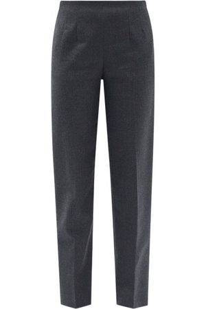 The Row Tezza Wool-flannel Straight-leg Trousers - Womens