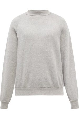 Les Tien High-neck Brushed-back Cotton Sweatshirt - Mens