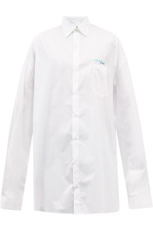 RAF SIMONS Men Shirts - Synchronicity Embroidered Oversized Cotton Shirt - Mens