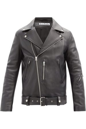 Acne Studios Nate Leather Biker Jacket - Mens
