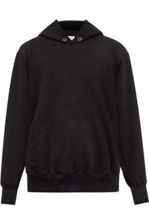 Les Tien Men Hoodies - Brushed-back Cotton Hooded Sweatshirt - Mens