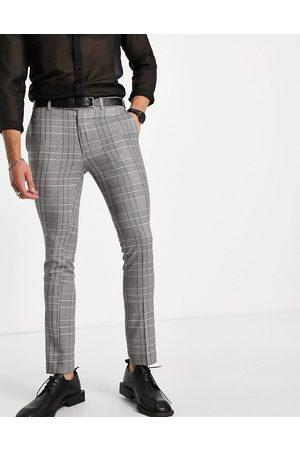 Bolongaro Trevor Check super skinny fit cropped suit pants