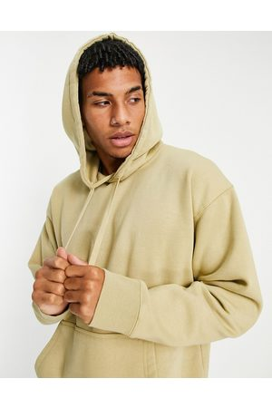 Topman Washed oversized hoodie in stone