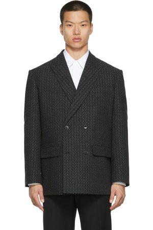 VALENTINO Grey Wool 'Optical ' Blazer