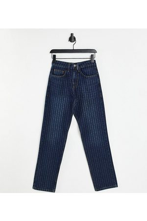 Collusion Straight - Unisex 90s straight leg jeans with laser pin stripe