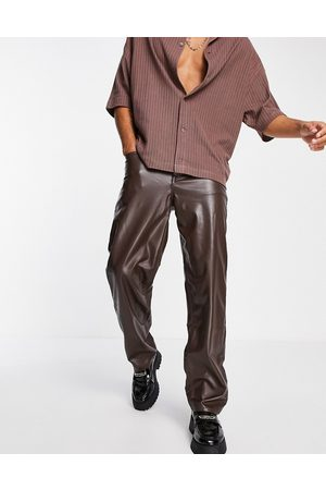 ASOS DESIGN Men Straight - Baggy jeans in leather look