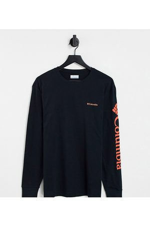 Columbia North Cascades long sleeve t-shirt in /red Exclusive at ASOS