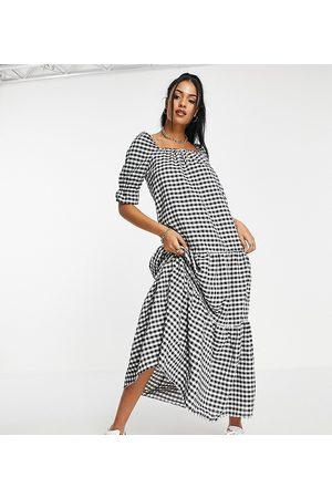 ASOS ASOS DESIGN Tall tiered maxi smock dress in -Multi