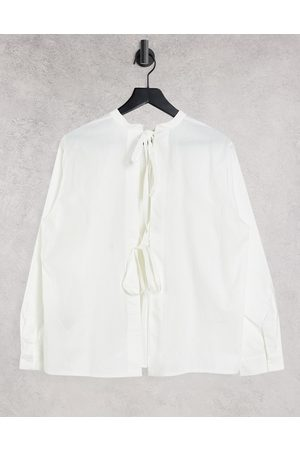Object Women Shirts - Shirt with open back tie details in
