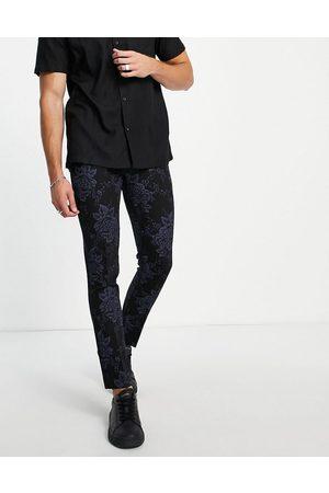 Bolongaro Floral super skinny fit suit pants