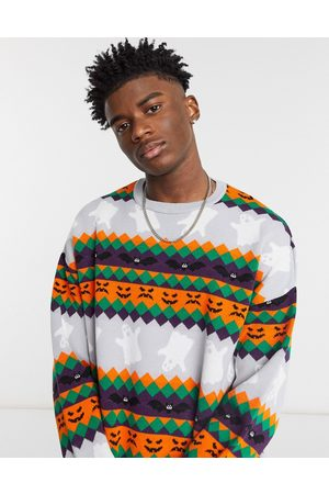 ASOS DESIGN Knitted Halloween jumper in all-over pattern