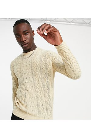Another Influence Men Sweaters - Tall cable knit jumper in -Neutral