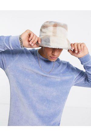 ASOS Oversized long sleeve t-shirt in ribbed velour