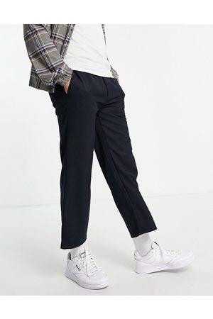 Topman Wide leg crop twill pants in