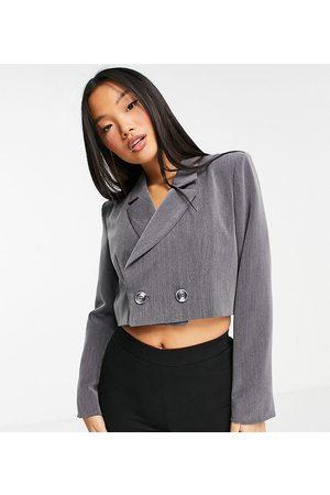 Flounce London Petite Cropped blazer in co-ord
