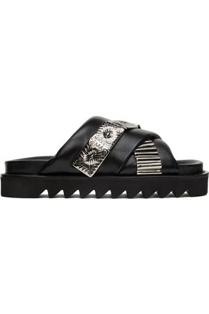 TOGA PULLA Women Thongs - Leather Double Strap Slides