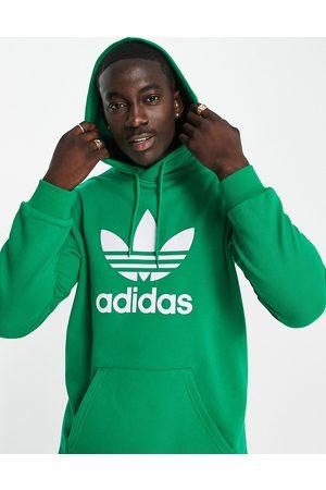 adidas Adicolor large trefoil hoodie in