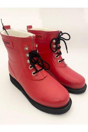 Ilse Jacobsen Short Rubber Lace Up Wellington Boots RUB 2 303