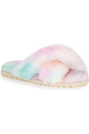 Emu Australia Mayberry Tie Dye Sheepskin Slippers Fairy Floss W12655