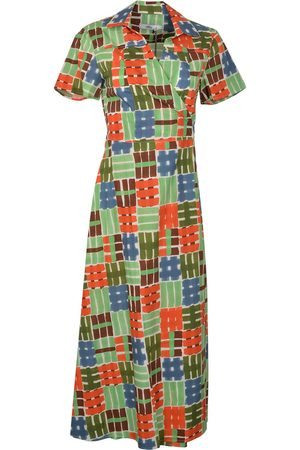 0039 Italy Women Casual Dresses - HAVANA Maxi Wrap Shirt Dress &