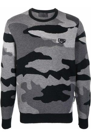 Philipp Plein Camouflage-print knitted jumper