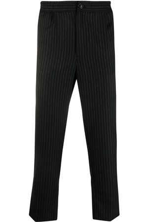 AMI Paris Cropped pinstripe track pants