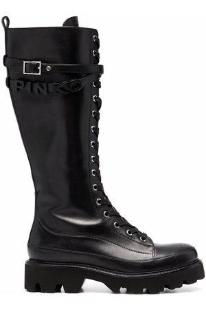 Pinko Logo-lettering lug sole boots