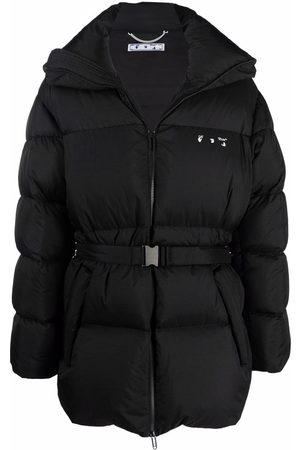 Off-White Hands Off belted puffer down jacket