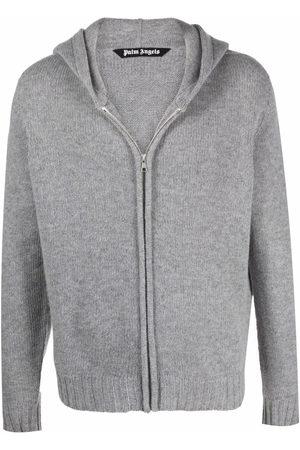 Palm Angels Intarsia-logo zip-up hoodie