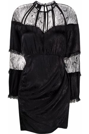 Pinko Floral-lace panelled dress