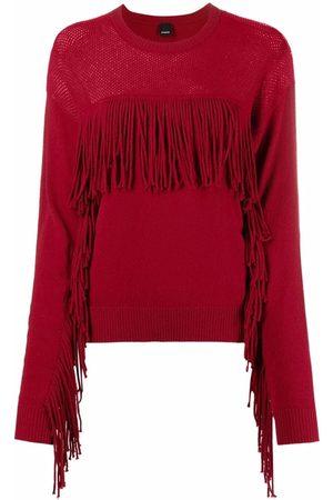 Pinko Fringe-detail knitted jumper