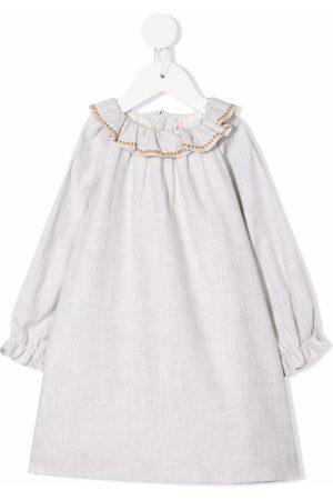 Bonpoint Ruffle-collar maxi dress