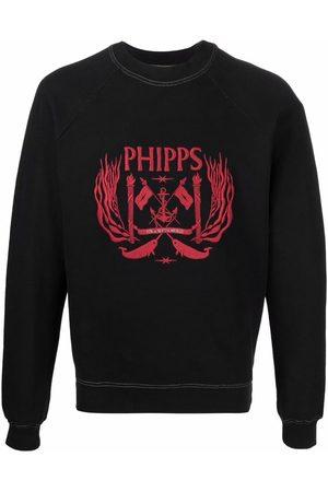 Phipps Embroidered-logo crewneck sweatshirt