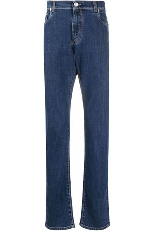 Billionaire Embroidered-logo straight-leg jeans