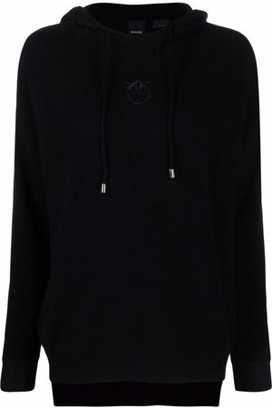 Pinko Embroidered-logo pullover hoodie