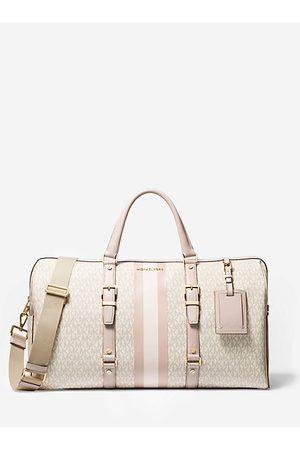 MICHAEL Michael Kors Women Handbags - MK Bedford Travel Extra-Large Logo Stripe Weekender Bag - Vanilla/soft - Michael Kors
