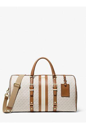 MICHAEL Michael Kors MK Bedford Travel Extra-Large Logo Stripe Weekender Bag - Vanilla/acorn - Michael Kors