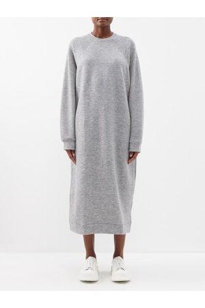 Raey Oversized Cashmere-blend Sweatshirt Dress - Womens - Light