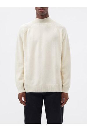 Raey Men Turtlenecks - Recycled-cashmere Blend Turtle-neck Sweater - Mens - Ivory