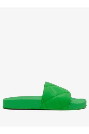 Bottega Veneta Women Thongs - The Slider Intrecciato-debossed Rubber Slides - Womens