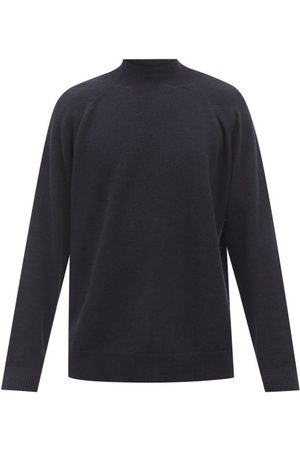 Raey Recycled-cashmere Blend Turtle-neck Sweater - Mens - Navy