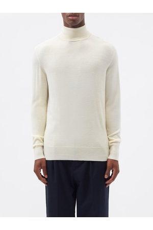 Raey Mercerised Merino Wool Roll-neck Sweater - Mens - Ivory
