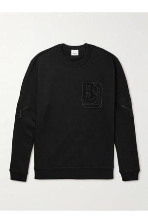 Burberry Men Sweatshirts - Logo-Appliquéd Cotton-Jersey Sweatshirt
