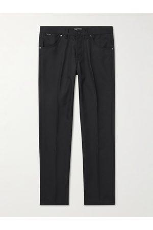 Tom Ford Men Skinny Pants - Slim-Fit Tech-Twill Trousers