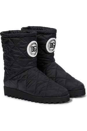 Dolce & Gabbana Kids Quilted nylon snow boots