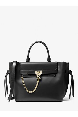 Michael Kors Women Handbags - MK Hamilton Legacy Large Leather Belted Satchel - - Michael Kors