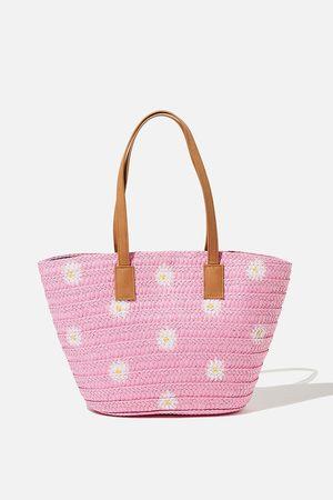 Cotton On Kids Beach Basket Bag - punch daisy