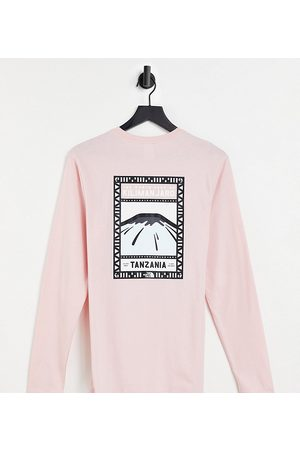 The North Face Women Long Sleeve - Faces long-sleeved T-shirt in pink Exclusive to ASOS