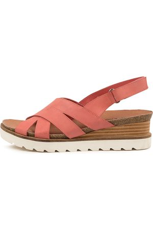 Django & Juliette Brean Dj Melon Sandals Womens Shoes Casual Sandals Flat Sandals